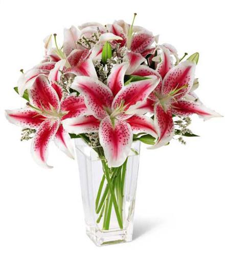 Photo of flowers: Pink Lily Bouquet