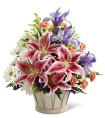 Photo of flowers: Wondrous Nature Basket Bouquet