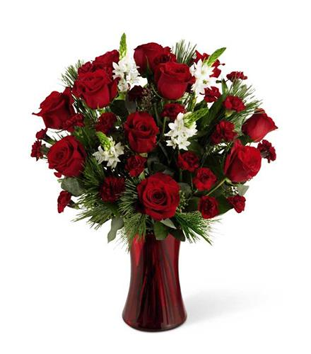 Photo of flowers: Holiday Romance Bouquet