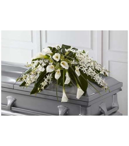 Photo of flowers: Angel Wings Casket Spray
