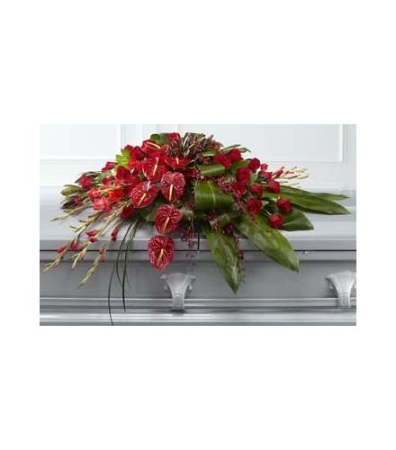 Photo of flowers: Peaceful Passage Anthurium Casket Spray