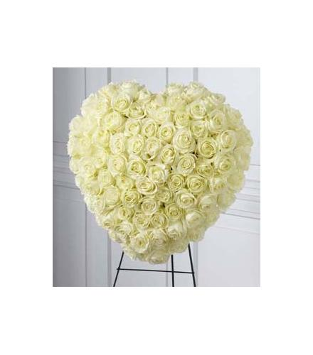 Photo of flowers: The Elegant Remembrance Standing Heart