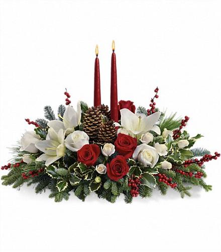 Photo of flowers: Christmas Wishes Centerpiece