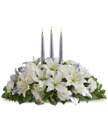 Photo of flowers: Silver Elegance Centerpiece