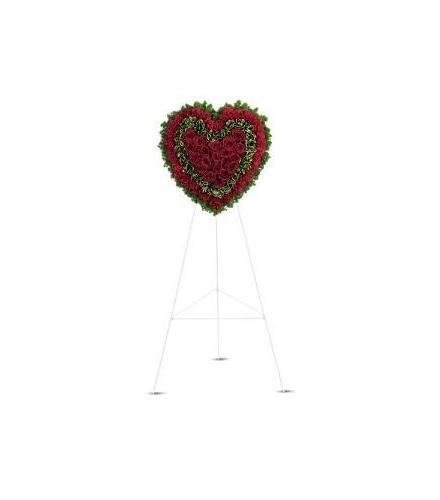 Photo of flowers: Majestic Heart on Easel
