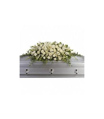 Photo of flowers: Purity and Peace Casket Spray