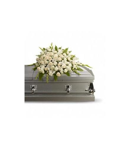 Photo of flowers: Serenity Casket Spray