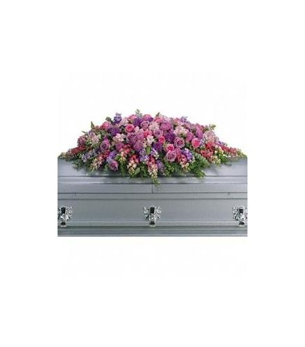 Photo of flowers: Lavender Tribute Casket Spray T235-2