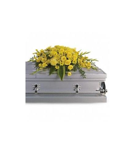 Photo of flowers: Graceful Grandeur Casket Spray