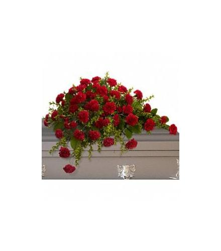 Photo of flowers: Adoration Carnation Casket Spray