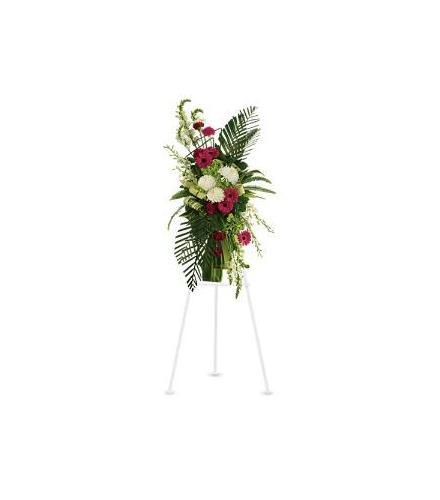 Photo of flowers: Gerberas and Palms Spray