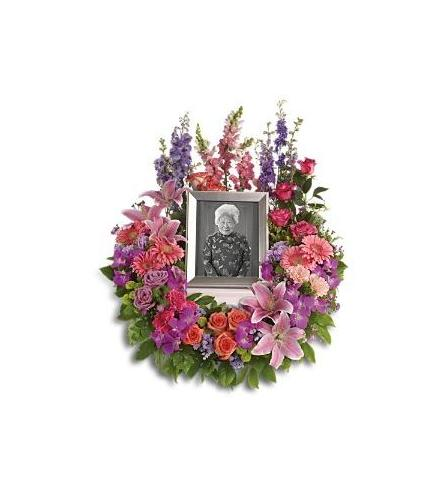 Photo of flowers: In Memoriam Wreath