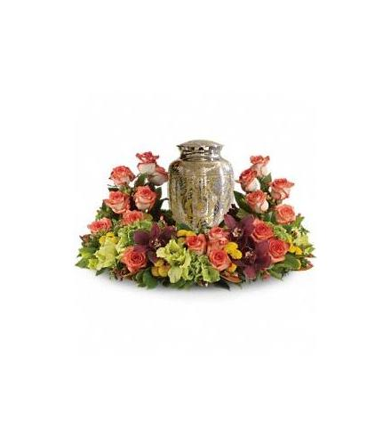 Photo of flowers: Sunset Wreath for Urn