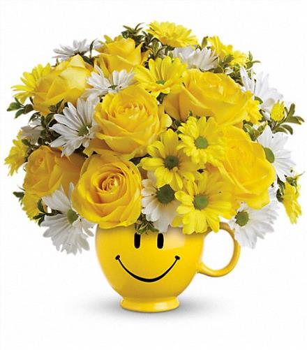 Photo of flowers: Be Happy Smile Mug