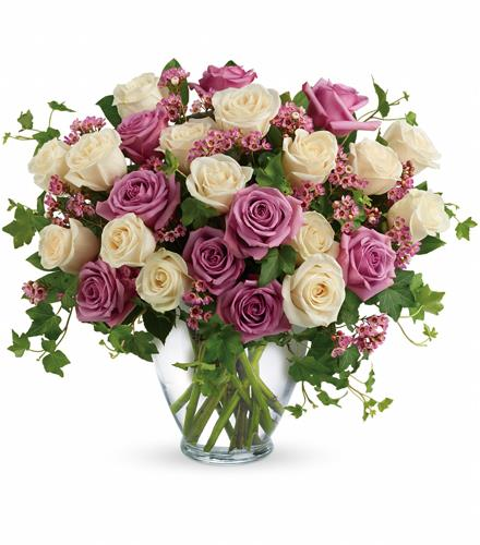 Photo of flowers: Victorian Roses Mauve and White