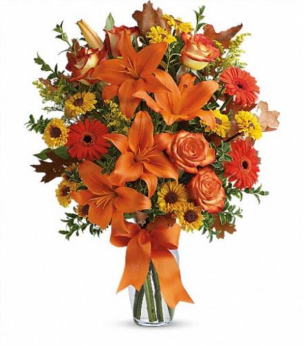 Photo of flowers: Burst of Autumn Vase
