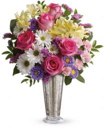 Photo of Smile and Shine Vase Bouquet Teleflora - TEV21-3