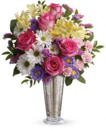 Photo of Smile and Shine Vase Bouquet Teleflora - TEV21-3