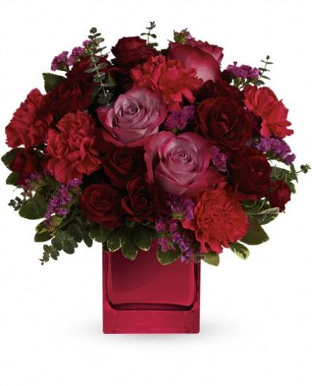 Photo of flowers: Teleflora's Ruby Rapture Bouquet