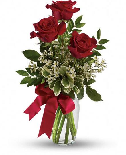 Photo of BF6542/TEV12-6 (3 Roses with vase)