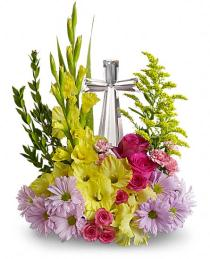 Photo of Crystal Cross Bouquet  E 400 - T11E400