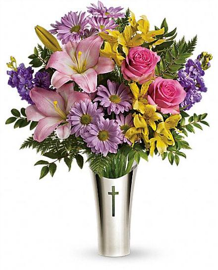 Photo of flowers: Silver Cross Vase