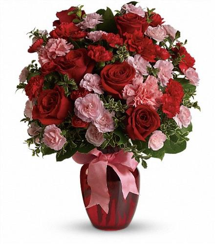 Photo of flowers: Dance with Me Bouquet with Red Roses