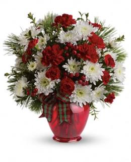 Photo of Joyful Gesture Bouquet Mums and Carnations  - TWR10-2