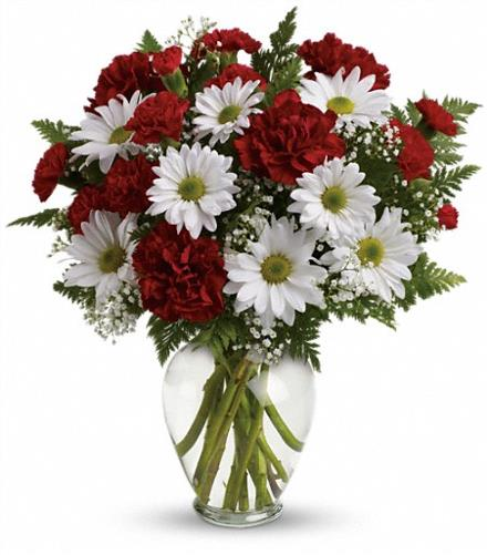 Photo of flowers: Kindest Heart Vase Bouquet