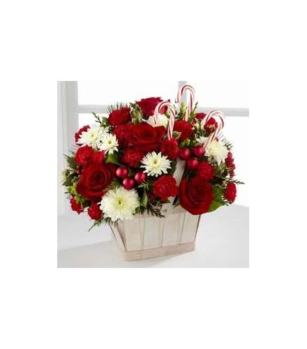 Photo of flowers: The FTD Candy Cane Lane Basket