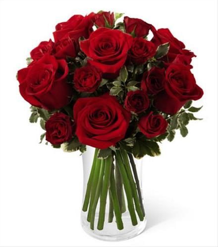 Photo of BF7163/B23-4375 (6 Roses plus spray roses)