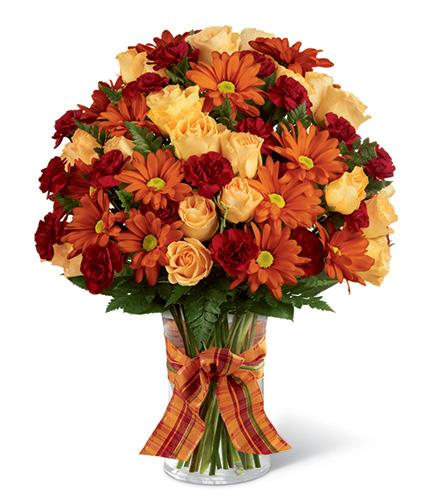 Photo of flowers: Golden Autumn Bouquet in Vase