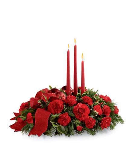 Photo of flowers: Lights of the Season Centerpiece