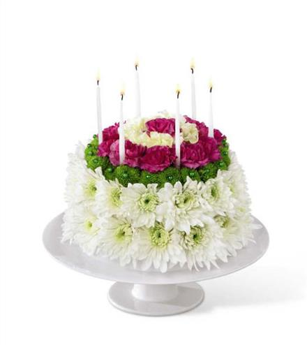 Photo of flowers: Wonderful Wishes Floral Cake