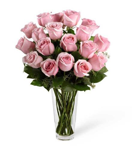 Photo of flowers: Long Stem Pink Rose Bouquet by FTD®