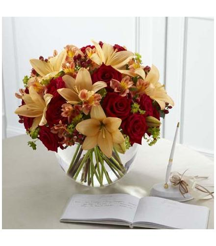Photo of flowers: The FTD Lily & Rose Arrangement
