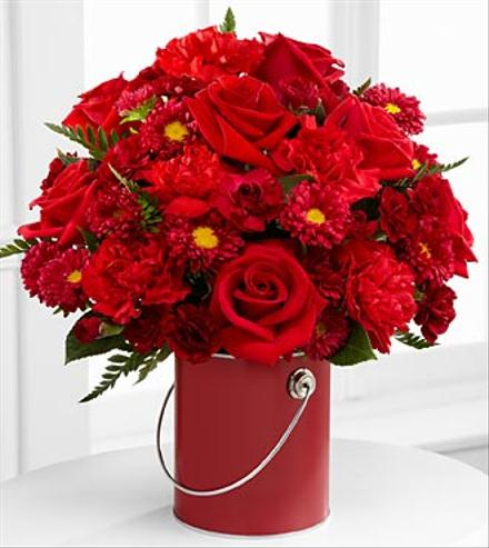 Photo of flowers: Color Your Day Red