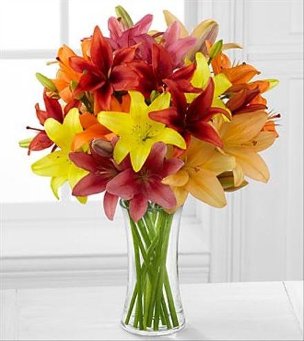 Photo of flowers: Sunsplash Sweetness Asiatic Lily Bouquet