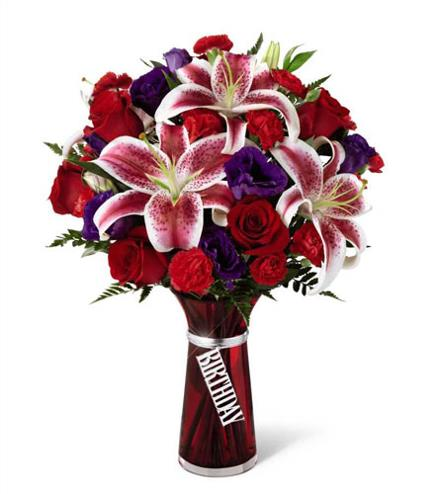 Photo of flowers: Birthday Wishes with Vase