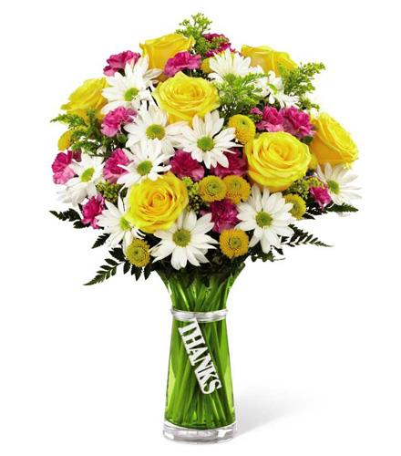 Photo of flowers: Thanks Bouquet with Vase