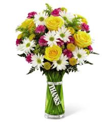 Photo of Thanks Bouquet with Vase - TTY