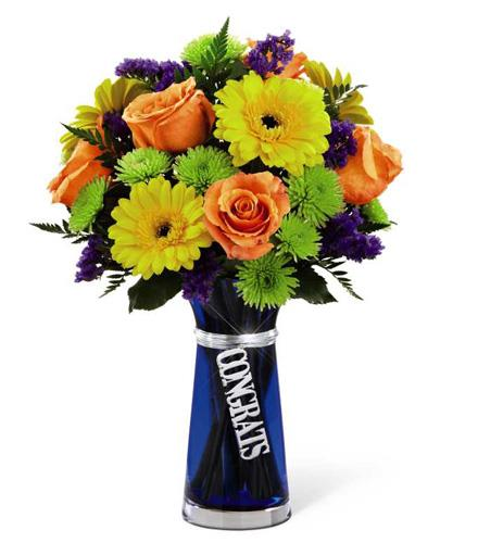 Photo of flowers: Congrats Bouquet with Vase