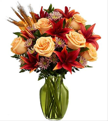 Photo of flowers: Happy Harvest Bouquet in Vase