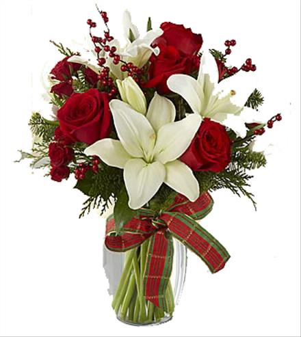 Photo of flowers: Winter Wonderland Holiday Bouquet