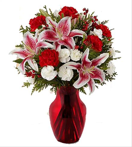 Photo of flowers: Christmas Inspirations Holiday Bouquet