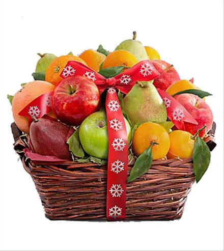 Photo of flowers: Fruitful Tidings Holiday Fruit Basket