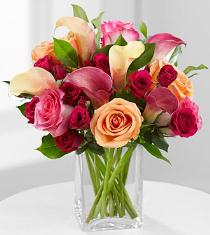 Photo of Colors of Love Bouquet in Vase - FK387