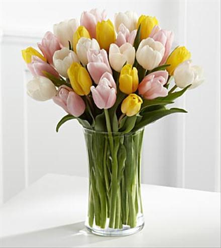 Photo of flowers: Sunset Escape Tulips Vased