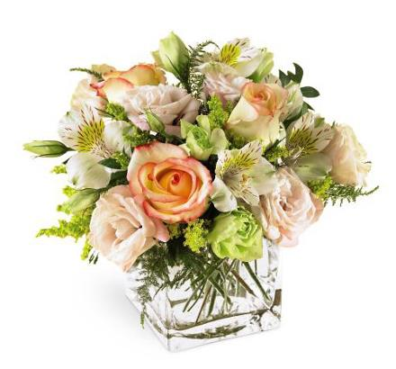 Photo of flowers: Speak Softly Pastel Cube Vase
