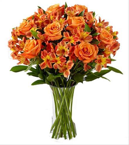 Photo of flowers: Orange Flowers in Vase